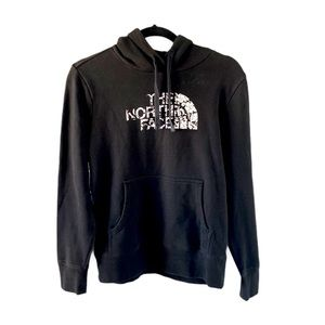 The North Face black floral graphic Hoodie small